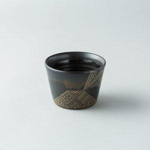 インハウス久永 with LIVINGHOUSE /黒さつま 紬もんデザインカップ